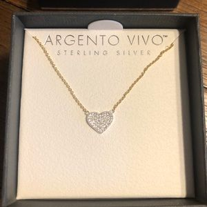 Argento Vivo Heart Pendent Necklace valentine's